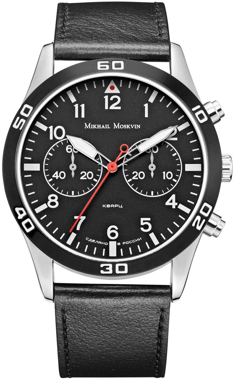 Часы наручные мужские Mikhail Moskvin, цвет: серебристый, черный. 1134A1L4
