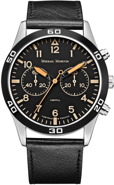 Часы наручные мужские Mikhail Moskvin, цвет: серебристый, черный. 1134A1L5