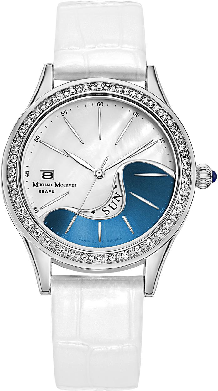 Часы наручные женские Mikhail Moskvin, цвет: серебристый, синий, белый. 1248A6L1-2