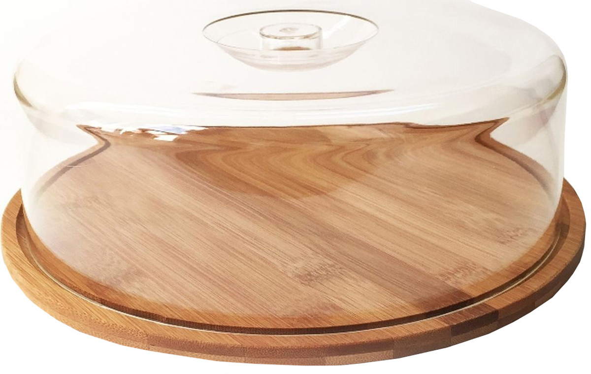 Тортница Dommix, с крышкой, диаметр 28 смBNB4559С тортницей Dommix, выполненной из бамбука, а крышка из пластмассы вы всегда сможете красиво и эстетично расположить торт или пирог на праздничном столе. Крышка сидит на подносе достаточно плотно и изготовлена из пластика, что позволяет сохранить первоначальную свежесть торта и защитить его от посторонних запахов. Упаковано в коробку.