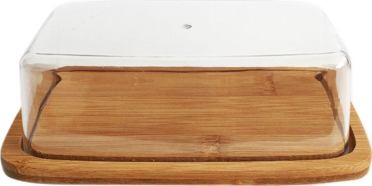 Масленка Dommix, с крышкой, 19 х 12,5 х 5,5 см. BNB4564BNB4564Масленка Dommix, выполненная из бамбука и пластика, предназначена для красивой сервировки и хранения масла. Она состоит из деревянного подноса и прозрачной пластиковой крышки. На подносе имеются специальные выемки, благодаря которым крышка легко на него устанавливается. Благодаря такой масленке ваше масло всегда будет свежим. Упаковано в коробку.