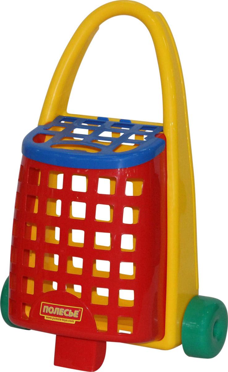 Полесье Забавная тележка цвет желтый красный синий форма волчок заводной цвет красный желтый синий