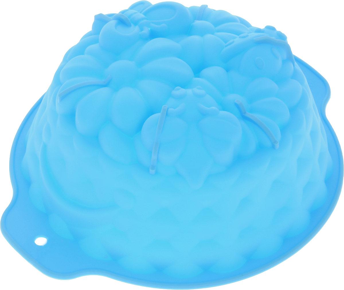 Форма для выпечки Доляна Корзина, цвет: голубой, 26 х 22,5 х 9 см1264092_голубойФорма Доляна Корзина, выполненная из силикона, будет отличным выбором для всех любителей домашней выпечки.Силиконовые формы для выпечки имеют множество преимуществ по сравнению с традиционными металлическими формами и противнями. Нет необходимости смазывать форму маслом. Форма быстро нагревается, равномерно пропекает, не допускает подгорания выпечки с краев или снизу. Вынимать продукты из формы очень легко. Слегка выверните края формы или оттяните в сторону, и ваша выпечка легко выскользнет из формы. Материал устойчив к фруктовым кислотам, не ржавеет, на нем не образуются пятна. Форма может быть использована в духовках и микроволновых печах (выдерживает температуру от -40°С до +230°С), также ее можно помещать в морозильную камеру и холодильник. Можно мыть в посудомоечной машине.