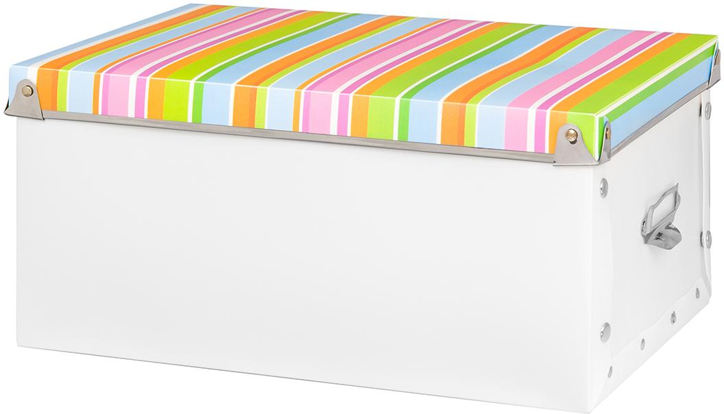 Коробка для хранения El Casa Яркие полоски, 31,5 х 22,5 х 15 см коробки для хранения el casa набор 2 х кофров геометрия стиля молочный