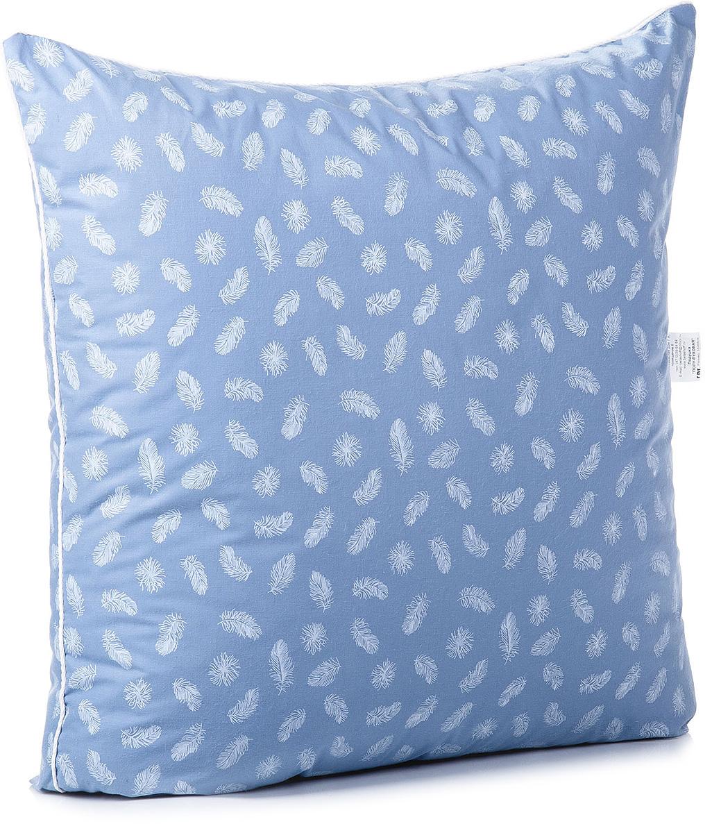 Подушка Тихий час Полу-пуховая, цвет: голубой, 68 х 68 смТЧП 2-1Коллекция пуховых постельных принадлежностей, выполненная в классическом стиле. Одеяла и подушки отличаются объемом и плавностью линий. Оптимальное соотношение пуха и пера (50/50%) в составе наполнителя, мягкость, упругость одеял и подушек.Для коллекции подобрана ткань, плотная структура которой препятствует миграции мелкого пера через чехол. Спокойные тона коллекции с неброским рисунком понравятся тем, кто ценит простоту и элегантность.