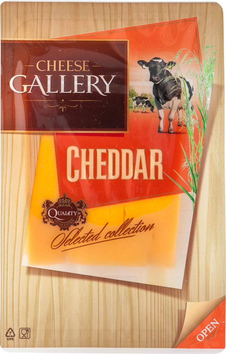 Cheese Gallery Сыр Чеддер красный, 45%, нарезка, 150 г cheese gallery сыр песто томато с приправой 45