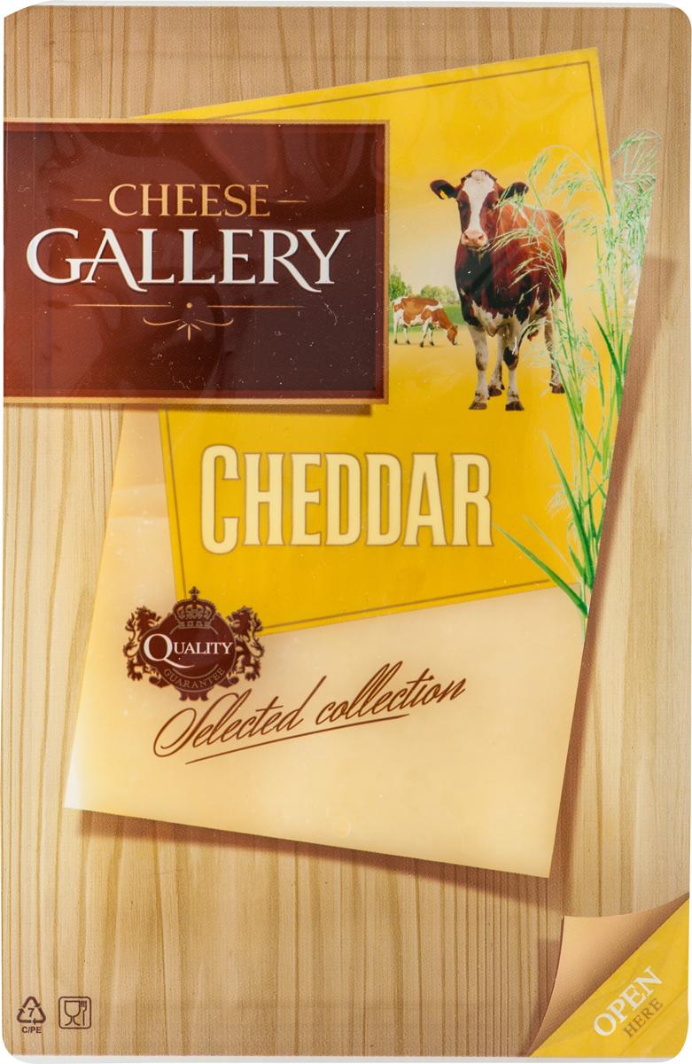 Cheese Gallery Сыр Чеддер, 50%, нарезка, 150 г105-787Чеддер — популярный английский сыр Сыр имеет плотную текстуру без отверстий и сливочный цвет с желтым оттенком Что касается вкуса, то он ореховый, при этом слегка резковатый с кислинкой Цвет этого продукта обеспечивает природный краситель