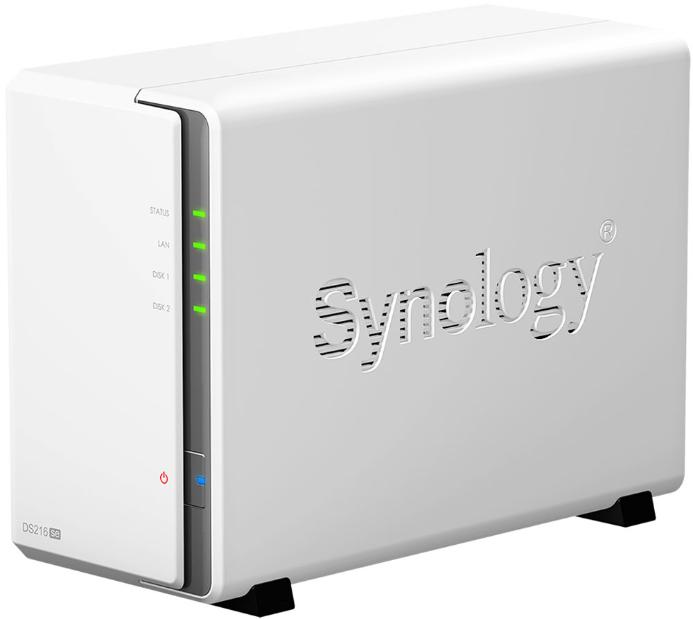 Synology DiskStation Ds216Se, White cетевое хранилище