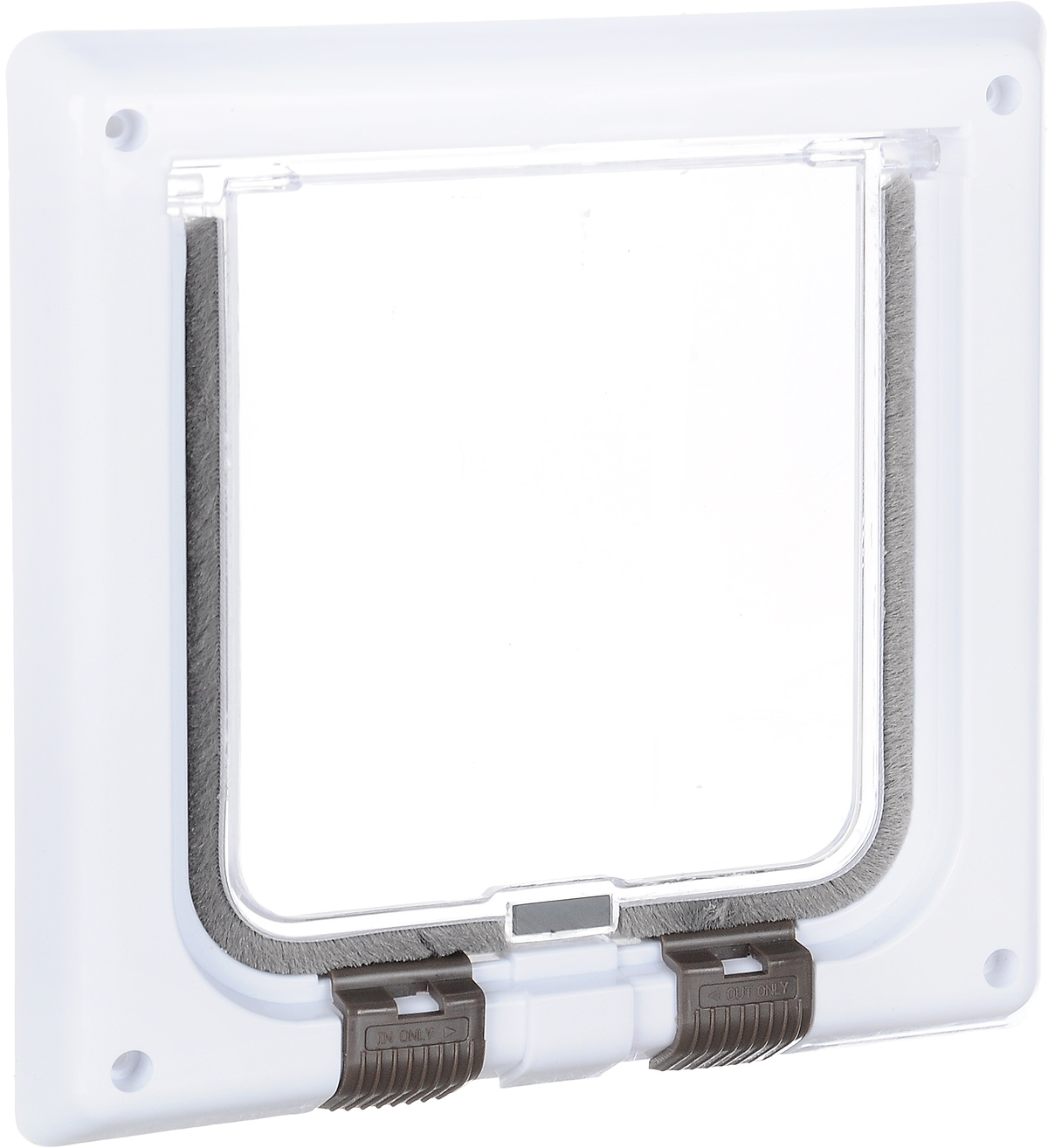 Дверца для кошки Trixie, с 4 функциями, цвет: белый, 16,5 х 17,4 см куплю входную металлическую дверь б у ижевск