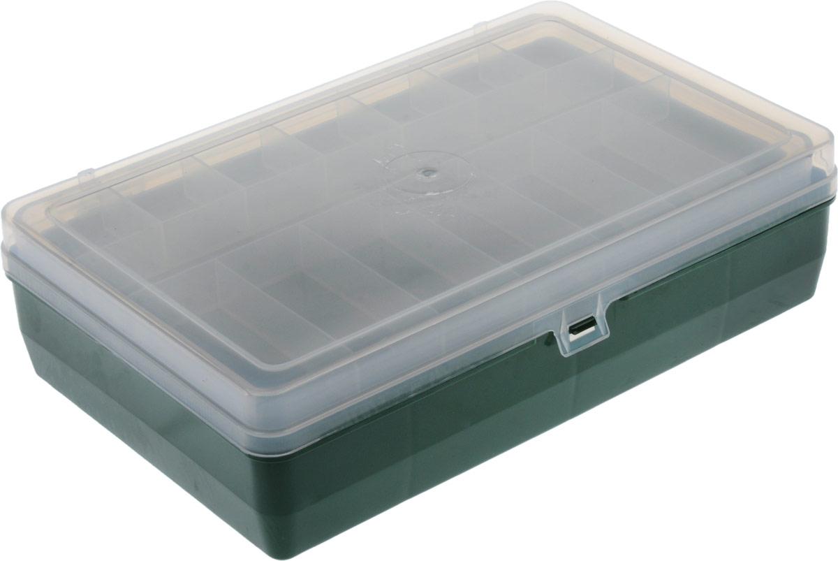 Коробка для крючков и насадок Trivol, двухъярусная, цвет: зеленый, прозрачный,24х15х6,5 см1252457_зеленыйКоробки для крючков, как и другие аксессуары для рыбалки, помогут сделать процесс подготовки к самой рыбной ловле максимально удобным. Двухъярусная коробка для крючков и насадок Trivol идеально подойдет в любое время года, для любого типа рыбалки и поможет вовремя отыскать среди всех снастей именно те, которые необходимы на данный момент.
