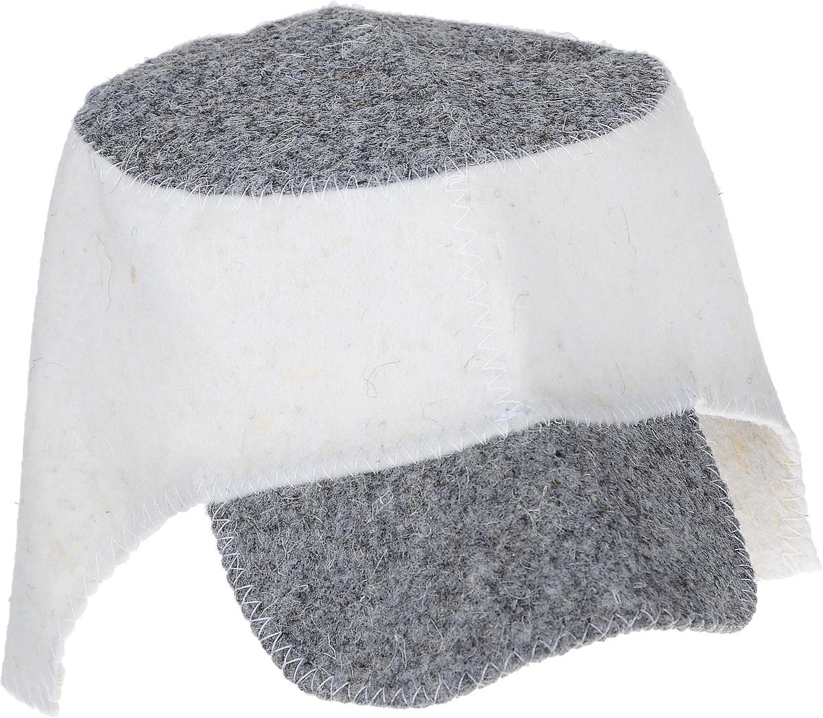 Шапка для бани и сауны Hot Pot Кепка Комби, цвет: серый, темно-серый41186Шапка для бани и сауны Hot Pot — это необходимый аксессуар при посещении парной. Такая шапка защитит от головокружения и перегрева головы, а также предотвратит ломкость и сухость волос. Изделие замечательно впитывает влагу, хорошо сидит на голове, обеспечивает комфорт и удовольствие от отдыха в парилке. Незаменима в традиционной русской бане, также используется в финских саунах, где температура сухого воздуха может достигать 100°С. Шапка выполнена в оригинальном дизайне.