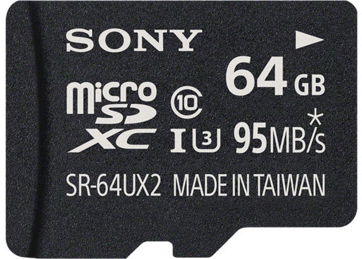 Sony SR-UX2A microSDXC Class 10 UHS-1 U3 64GB карта памяти с адаптером - Карты памяти