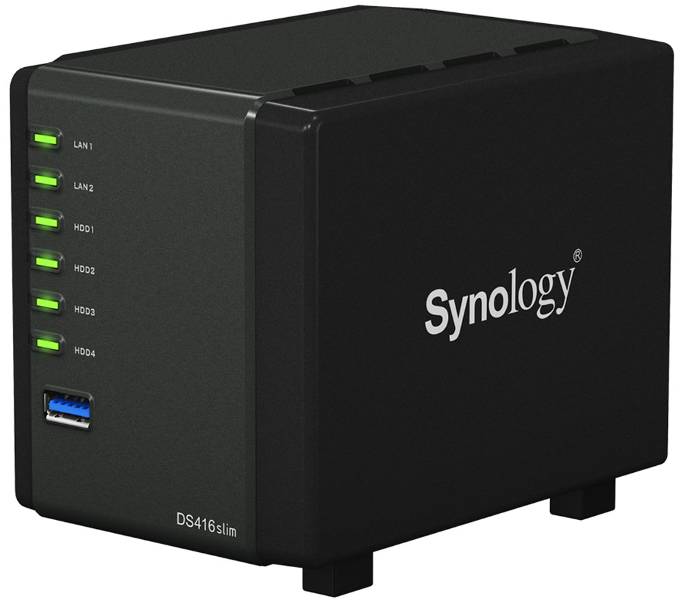 Synology DiskStation Ds416Slim, Black cетевое хранилище