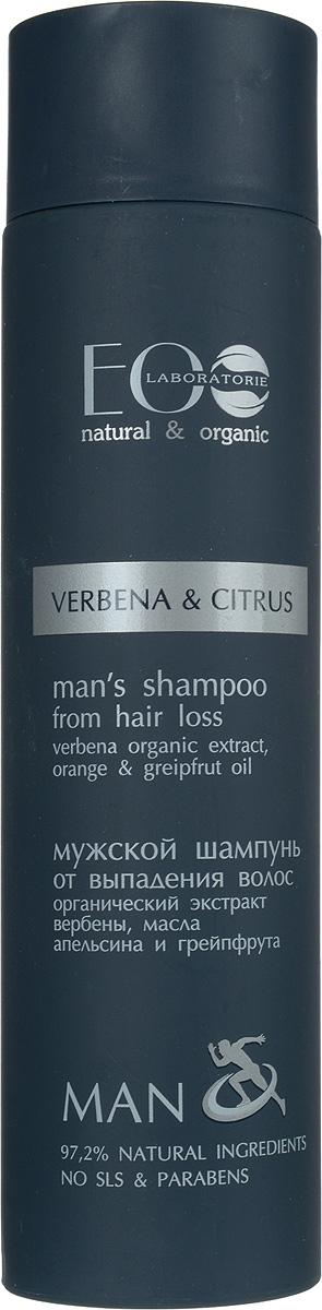EO laboratorie Шампунь для волос Против выпадения 250 мл4627089432018Он содержит более 97% ингредиентов растительного происхождения.В состав входят органические экстракты и масла.Продукт не содержит SLS, парабенов и силиконов.В производстве использованы только натуральные консерванты и красители.