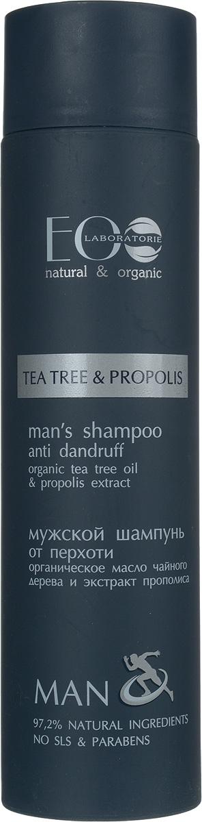 EO laboratorie Шампунь для волос Против перхоти 250 мл721296Органическое масло чайного дерева обладает противогрибковым свойством и способно бороться с перхотью, оно успешно убирает шелушение и зуд, делая волосы и кожу головы чистыми и здоровыми. Антимикробное воздействие прополиса помогает предотвратить и устранить перхоть. Растительные смолы, витамины и минеральные соли укрепляют волосы, придают им блеск и эластичность.