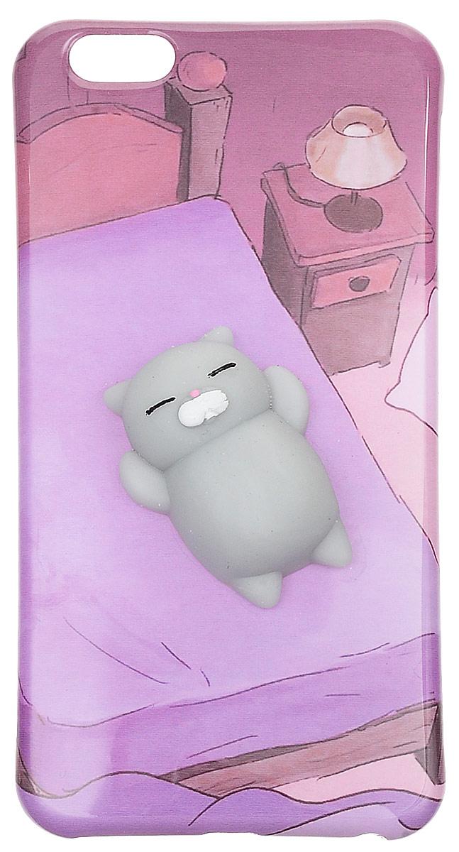 Fidget Go Кот на диване чехол-антистресс для iPhone 6 Plus/6S Plus fidget cube игрушка антистресс полночь