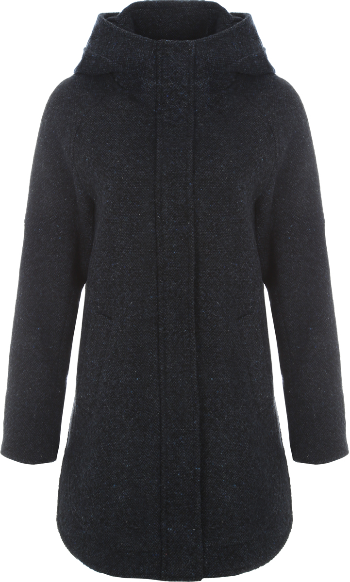Пальто женское Alessandro Vasaio, цвет: темно-синий. 1533. Размер XS (42)1533Стильное пальто-парка свободного кроя, выполненное из итальянской ткани. Модель имеет длинные рукава, капюшон и два кармашка. Парки из пальтовых тканей - остромодная тенденция.