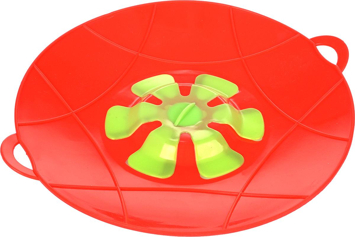 Крышка-невыкипайка Доляна Актеон, цвет: красный, салатовый, 28 см1045257_красный, салатовыйКрышка-невыкипайка Доляна Актеон изготовлена из термостойкого силикона высокого качества, поэтому не теряет формы при воздействии высоких температур. Подходит для посуды диаметром 15-28 см. Изделие предотвращает выкипание, защищает мебель и плиту от брызг масла при жарке продуктов, следовательно, ваша кухня всегда будет в чистоте. Крышку также можно использовать для приготовления пищи на пару. Можно мыть в посудомоечной машине, использовать в СВЧ и в холодильнике. При хранении в прохладных местах крышка обеспечит свежесть продуктов. При использовании крышки в микроволновой печи масло не разбрызгивается.
