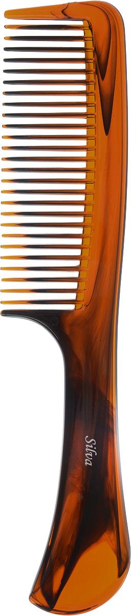 Silva Расческа для волос с ручкой, цвет: коричневыйSB 269Коллекция Silva Brown- это расчески щетки для волос и брашинги из пластика. Выполнена в классической коричневой цветовой гамме, имеет оригинальную форму ручки. Это коллекция пользуеться большой популярностью у покупателей. Для любого типа волос