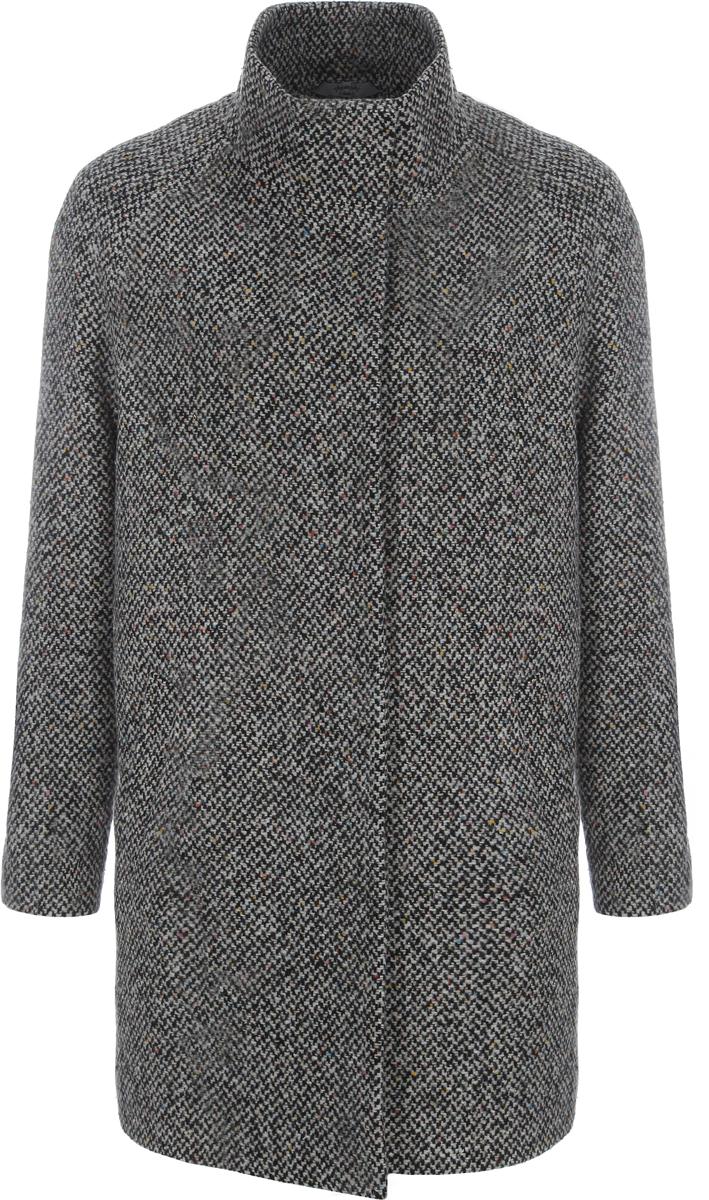 Пальто женское Alessandro Vasaio, цвет: серый. 1193. Размер M (46)1193Молодежная модель oversize, выполненная из итальянской ткани. Модель имеет воротник-стойку, рукав реглан и удобные карманы. Отражает последние тенденции в мире моды.