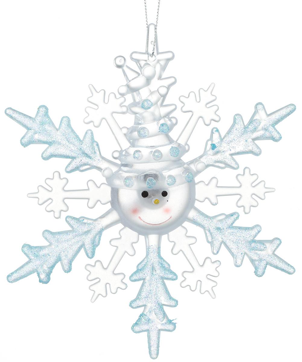 Подвесное украшение праздничное Luazon Lighting Снежинка-снеговик, с подсветкой, цвет: синий1077321Невозможно представить себе современный мир без электроприборов. Благодаря качественным материалам и работе дизайнеров они способны сделать нашу жизнь комфортнее и порадовать глаз. Это прекрасный выбор, если вы находитесь в поиске товара, который идеально впишется в ежедневную жизнь и прослужит долго.Батарейки в комплекте.