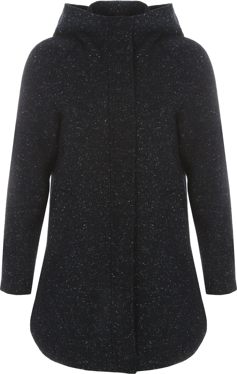 Пальто женское Alessandro Vasaio, цвет: синий. 1533. Размер S (44)1533Стильное пальто-парка свободного кроя, выполненное из итальянской ткани. Модель имеет длинные рукава, капюшон и два кармашка. Парки из пальтовых тканей - остромодная тенденция.