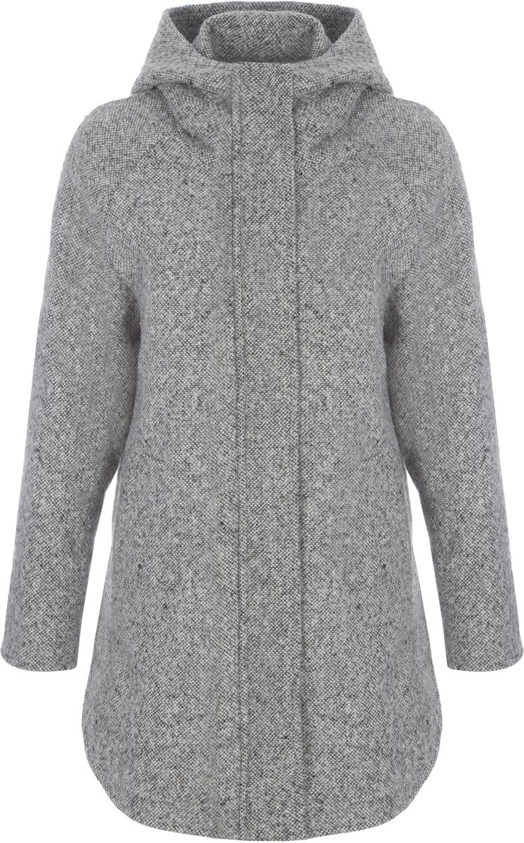 Пальто женское Alessandro Vasaio, цвет: серый. 1533. Размер XXS (40)1533Стильное пальто-парка свободного кроя, выполненное из итальянской ткани. Модель имеет длинные рукава, капюшон и два кармашка. Парки из пальтовых тканей - остромодная тенденция.