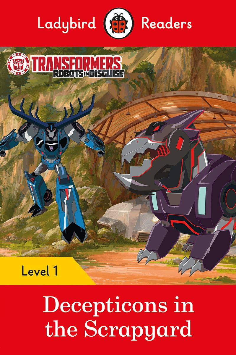 Transformers: Decepticons in the Scrapyard- Ladybird Readers Level 1 sharks ladybird readers level 3