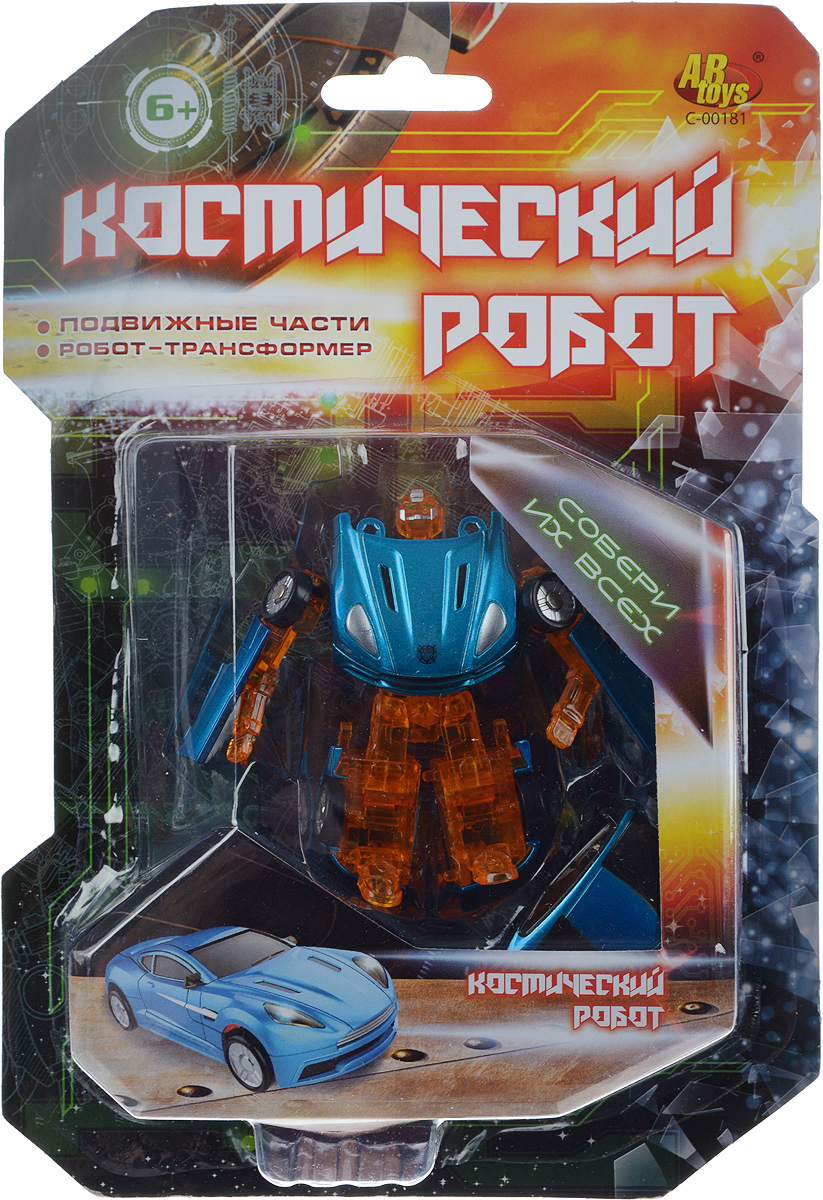 ABtoys Трансформер Космический робот цвет бирюзовый оранжевый