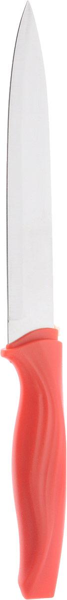 Нож универсальный Доляна Оберон, цвет: красный, длина лезвия 12,5 см1702348_красныйУниверсальный нож Доляна Оберон предназначен для нарезки различных продуктов. Изделие выполнено из высококачественной стали. Благодаря уникальной формуле стали и качеству ее обработки, лезвие имеет высокий показатель твердости, что позволяет ему долго сохранять острую заточку. Нож Доляна Оберон идеально шинкует, нарезает и измельчает продукты. Он займет достойное место среди аксессуаров на вашей кухне. Общая длина ножа: 23,5 см.