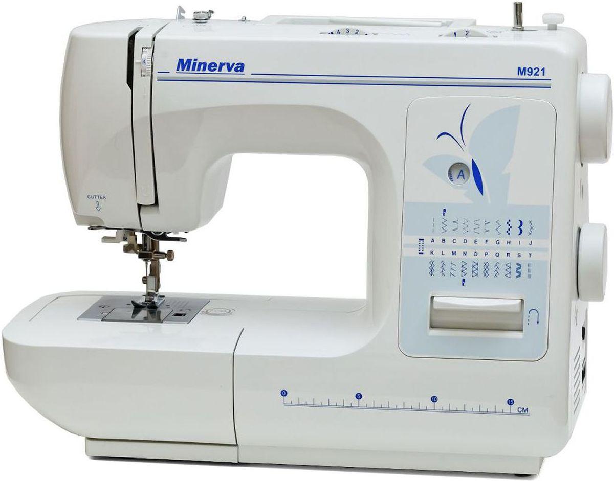 Minerva M921 швейная машинаM-M921Minerva M921 - новая швейная машина от производителя Minerva, которая соответствует высоким требованиям к качеству шитья.Швейная машина Minerva M921 выполняет 21 операцию: рабочие, оверлочные, трикотажные и декоративные строчки. Машина имеет горизонтальное челночное устройство, что позволяет легко заменить шпульку и контролировать наличие нити, также дает возможность легко увеличивать скорость при шитье. Петля-автомат, съемная рукавная платформа, автоматическая заправка нити, плавная регулировка длины и ширины стежка, усиленный нижний транспортер, регулировка давления лапки на ткань, рычаг обратного хода, вертикальный катушкодержатель, автоматическая система быстрой намотки шпульки являются неотъемлемыми характеристиками машины.Особенностью данной машины является встроенное оверлочное устройство с обрезкой края и оверлочной лапкой в комплектеДополнительные функции:Плавная регулировка длины и ширины стежкаУсиленный нижний транспортер Регулировка давления лапки на тканьРычаг обратного ходаРаботает с различными видами тканейВертикальный катушкодержательСистема быстрой намотки шпулькиУправление скоростью шитья от педали