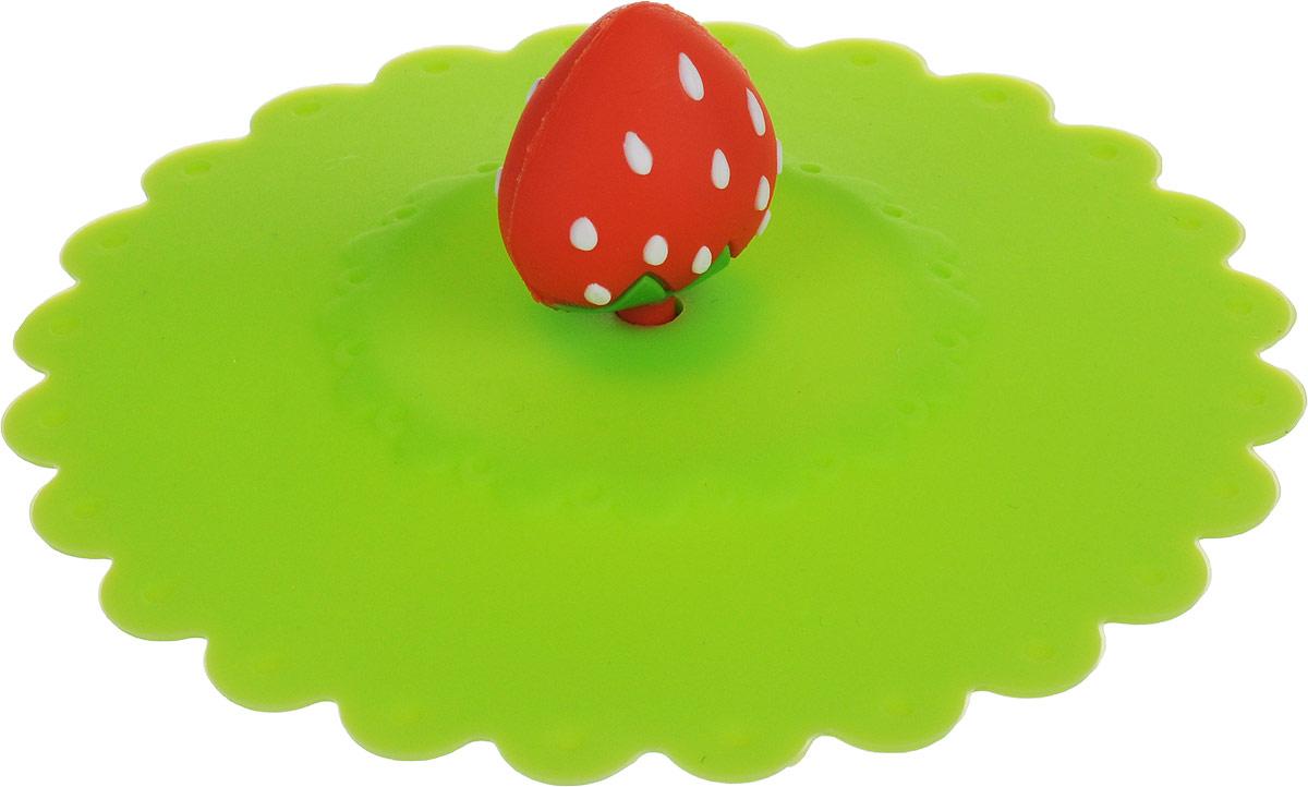 Крышка Доляна Клубничка, цвет: салатовый, 11 см1166889_салатовыйКрышка Доляна Клубничка станет незаменимым помощником любой современной хозяйки! Она выполнена из безопасного пищевого силикона, устойчивого к температурам от -40 до +250 градусов. Изделие не впитывает посторонние запахи, удобно в транспортировке и хранении. Яркие света и необычная форма ручки привлекут внимание любого посетителя вашей кухни, а вам поможет не потерять крышку среди остальной посуды. Диаметр крышки: 11 см.