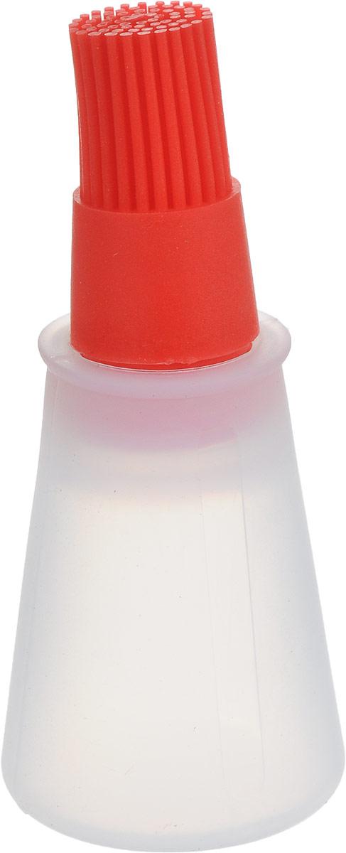 Кисть Доляна Олио, для масла, цвет: красный, 11 х 5 см708001_краснаяСпециальная кисть Доляна Олио помогает быстро смазать выпечку глазурью, яйцом или кремом, нанести масло на сковороду или противень.