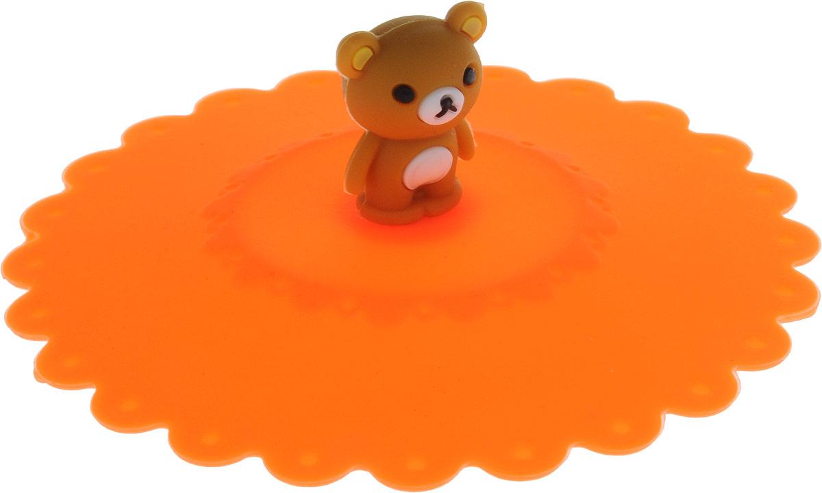 Крышка Доляна Мишка, цвет: оранжевый, 11 см811982_оранжевыйКрышка Доляна Клубничка станет незаменимым помощником любой современной хозяйки! Она выполнена из безопасного пищевого силикона, устойчивого к температурам от -40 до +250 градусов. Изделие не впитывает посторонние запахи, удобно в транспортировке и хранении. Яркие света и необычная форма ручки привлекут внимание любого посетителя вашей кухни, а вам поможет не потерять крышку среди остальной посуды. Диаметр крышки: 11 см.