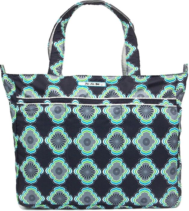 Ju-Ju-Be Сумка для мамы Super Be цвет синий зеленый 12FF02A-3111 ju ju be сумка для мамы super be black petals