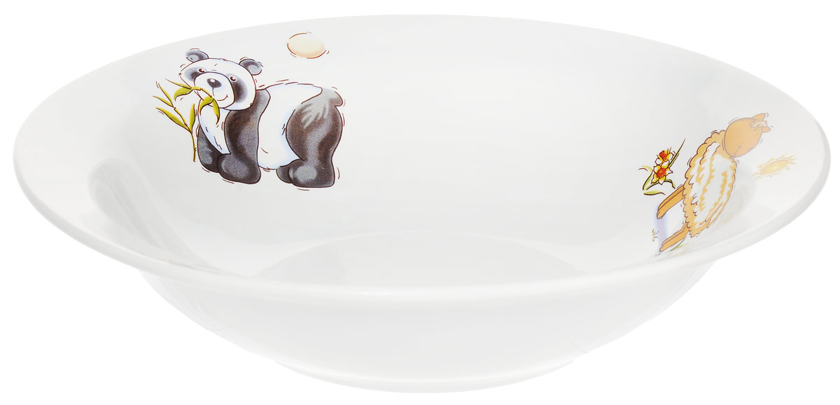 Кубаньфарфор Миска детская Зоопарк Панда Овца Лягушка 500 мл1301403_панда овца лягушкаФаянсовая детская посуда с забавным рисунком понравится каждому малышу. Изделие из качественного материала станет правильным выбором для повседневной эксплуатации и поможет превратить каждый прием пищи в радостное приключение.