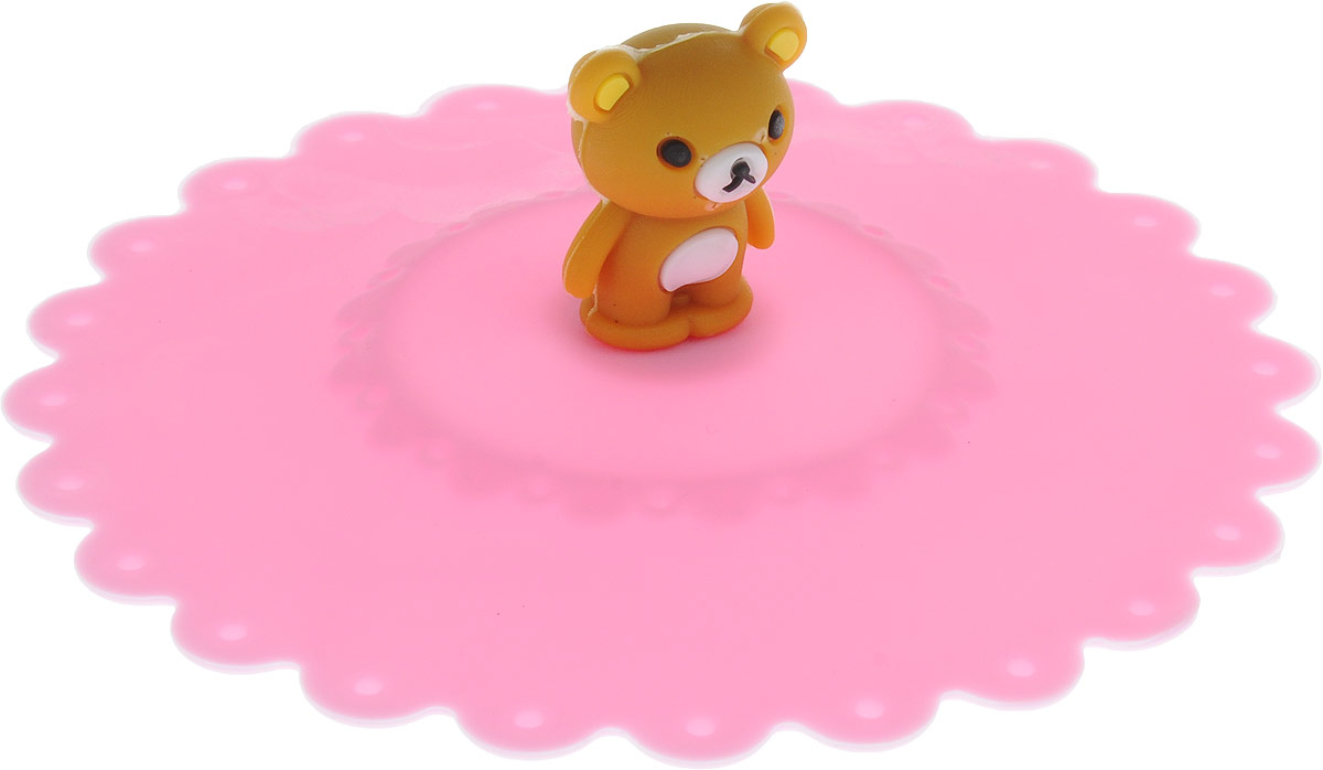 Крышка Доляна Мишка, цвет: розовый, 11 см811982_розовыйКрышка Доляна Клубничка станет незаменимым помощником любой современной хозяйки! Онавыполнена из безопасного пищевого силикона, устойчивого к температурам от -40 до +250градусов. Изделие не впитывает посторонние запахи, удобно в транспортировке и хранении.Яркие света и необычная форма ручки привлекут внимание любого посетителя вашей кухни, а вампоможет не потерять крышку среди остальной посуды.Диаметр крышки: 11 см.