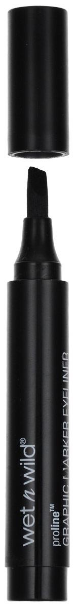 Wet n Wild Подводка-маркер Proline Graphic Marker Eyeliner Traceur Liquide, 2 млKMVL14Подводка-маркер для век Wet n Wild Proline Graphic Marker Eyeliner Traceur Liquide обеспечивает капиллярный эффект при нанесении. Главное удобство заключается в том, что не нужно дозировать количество подводки на кисточке самостоятельно. Линия обладает высокой точностью. Подводка не растекается и при высыхании на веке приобретает интенсивно черный цвет с мягким глянцевым блеском, а благодаря глицерину ухаживает за нежной кожей глаз. Формула подводки обладает водоотталкивающим эффектом. Продукт может использоваться непрофессионалами, делающими первые шаги в искусстве макияжа.Без парабенов.Товар сертифицирован.