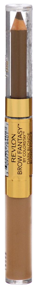 Revlon Карандаш И Гель для Бровей Colorstay Brow Fantasy Pencil & Gel Blonde 104 14 г revlon карандаш и гель для бровей colorstay brow fantasy pencil