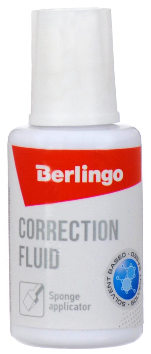 Berlingo Корректирующая жидкость с губчатым аппликатором 20 мл