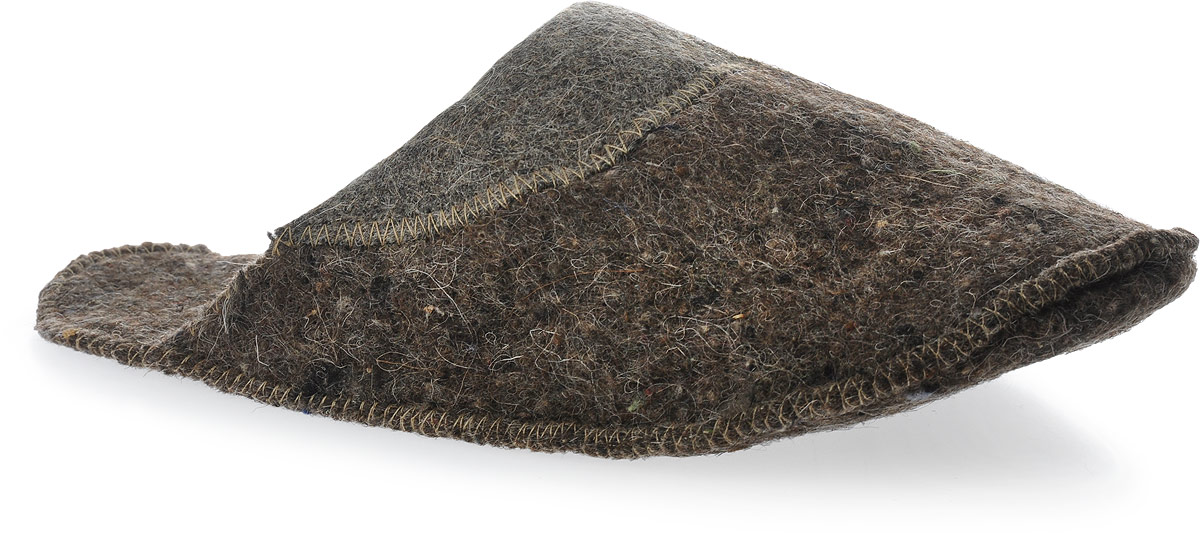 Тапки мужские для сауны Ecology Sauna Комбинированные, цвет: серый