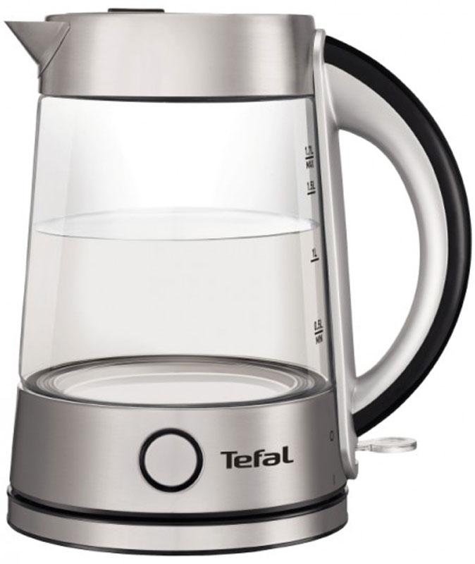 Tefal Glass Kettle KI760D30 электрический чайникKI760D30Tefal Glass Kettle KI760D30 - стеклянный чайник объемом 1,7 л с элементами из нержавеющей стали.Удобство использования электрического чайника сочетается с элегантностью исполнения в Tefal Glass в стеклянном корпусе. Изготовленный из натуральных материалов, чайник полностью сохраняет естественный вкус и минеральный состав воды для приготовления самого ароматного чая.Процесс кипения воды завораживает благодаря уникальному дизайну - прозрачности стекла в сочетании со специальной подсветкой. Термоустойчивое стекло выдерживает резкие перепады температуры и гарантирует долгую службу чайника.Специальное скрытое расположение нагревательного элемента обеспечивает быстрое кипячение воды и легкую очистку чайника.