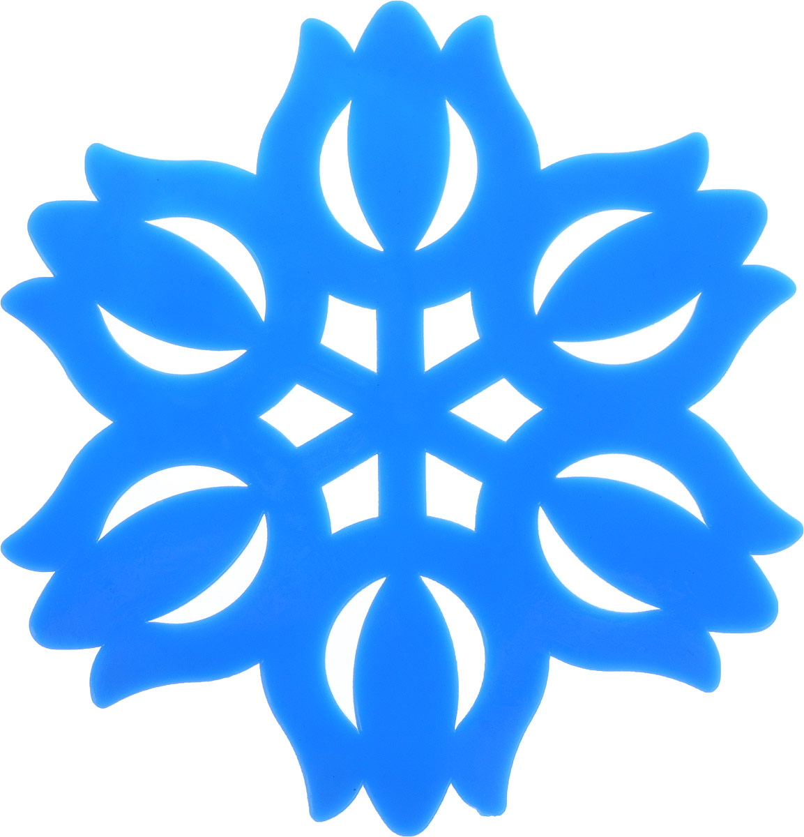 Подставка под горячее Доляна Тюльпан, цвет: синий, диаметр 11 см811889_синийСиликоновая подставка под горячее - практичный предмет, который обязательно пригодится в хозяйстве. Изделие поможет сберечь столы, тумбы, скатерти и клеёнки от повреждения нагретыми сковородами, кастрюлями, чайниками и тарелками.Необычный дизайн и яркий цвет этой подставки не только порадует глаз, но и украсит вашу кухню!