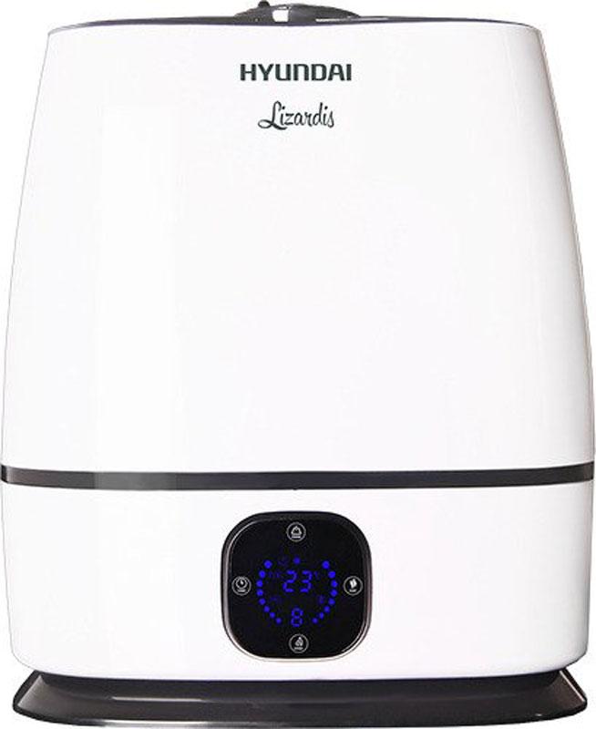 Hyundai H-HU3E-6.0-UI047, White увлажнитель воздухаH-HU3E-6.0-UI047Ультразвуковой увлажнитель воздуха Hyundai H-HU3E-6.0-UI047 - это высокотехнологичный прибор, который за минимальное время сделает воздух вокруг вас свежим и чистым. Он представляет собой стильный и компактный прибор, который может размещаться как на полу, так и на столе.Особенности: Полностью электронное управление Большой объем бака – 6 литров Производительность по увлажнению – 330 мл/ч Таймер наотключение с предустановленным диапазоном 1, 2, 4, 8 часов Теплый и холодный пар для улучшения очистки воздуха Автоматическоеотключение при отсутствии воды Встроенная аромакапсула для ароматического масла Автоматическое уменьшение яркости дисплея Окно из прозрачного пластика для визуализации уровня воды в баке Непрерывная работа до 18 часов на максимальной мощности бездолива воды Минеральный фильтр для смягчения воды в комплекте Бесшумная работа для комфортного использования во время сна и отдыха