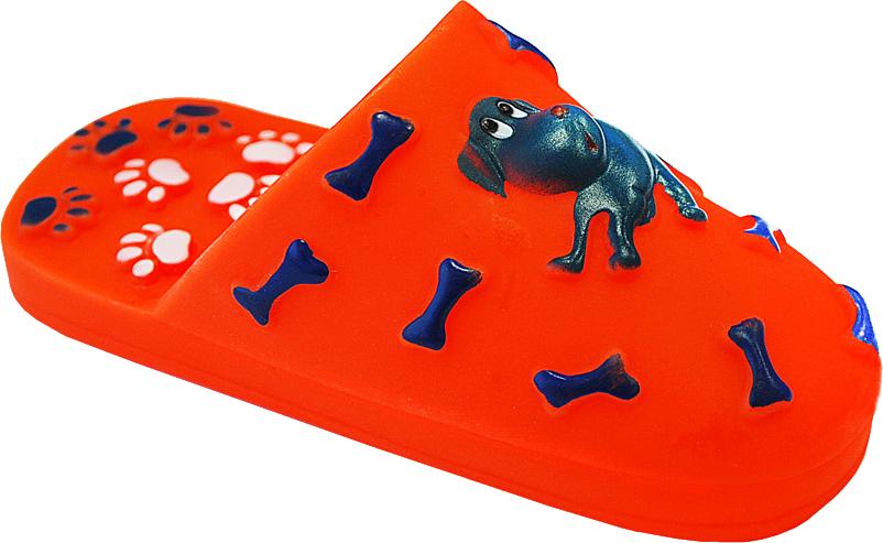 Игрушка для собак Уют Шлепанцы, 15,5 x 6 смИШ15Подходит для собак мелких и средних пород. Прочные безопасные материалы. Яркая, привлекательная расцветка.