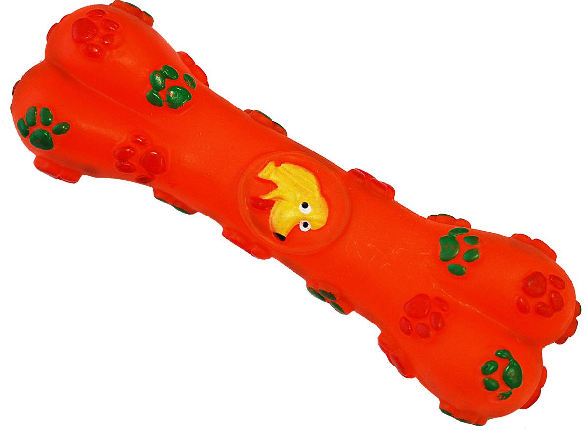Игрушка для собак Уют Косточка с лапками, 15,5 смИШ26Подходит для собак мелких и средних пород. Прочные безопасные материалы. Яркая, привлекательная расцветка.
