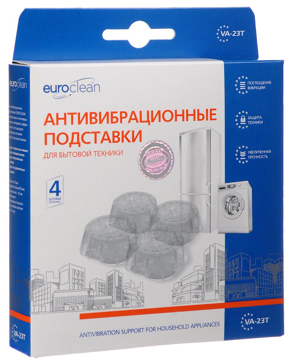 Euro Clean VA-23T, Clear антивибрационные подставки для стиральных машин и холодильников, 4 шт