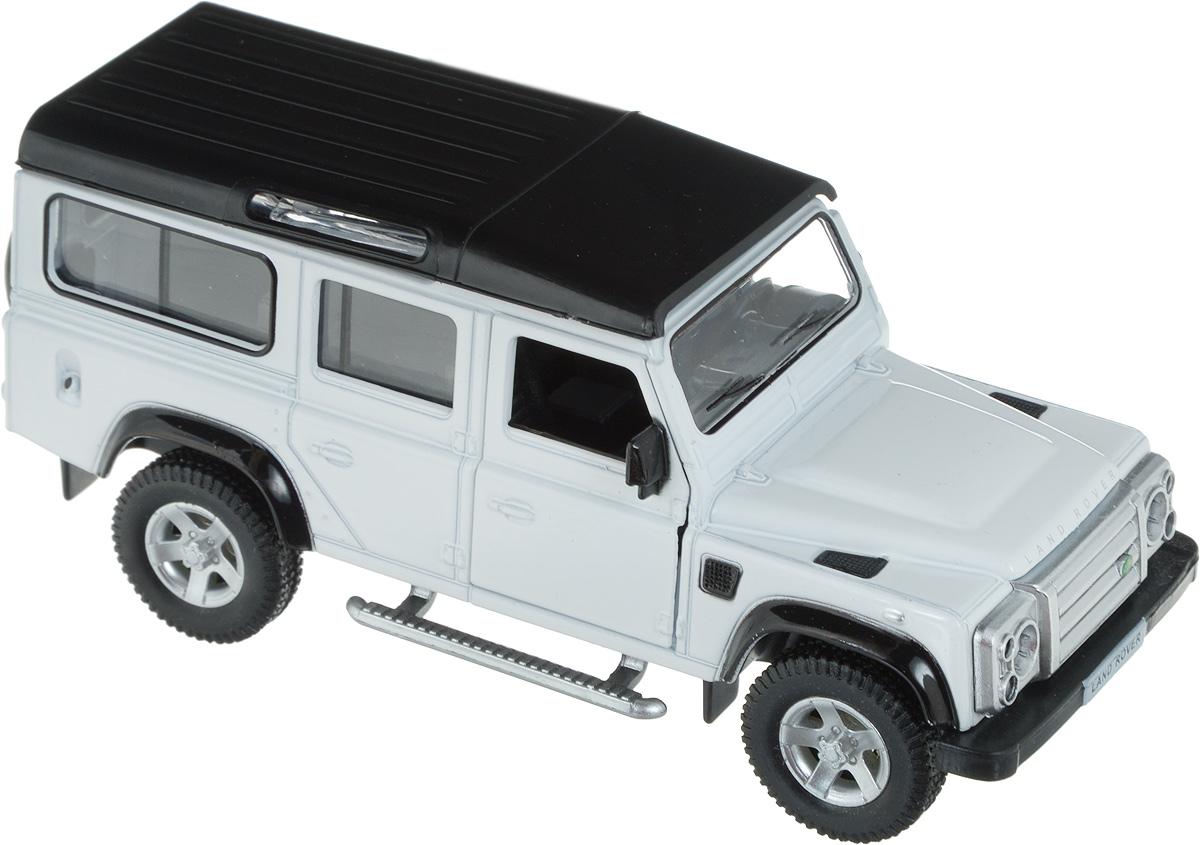 Autotime Модель автомобиля Land Rover Defender цвет белый черный