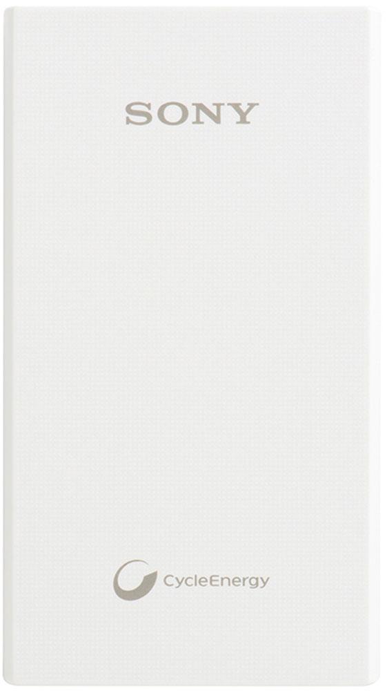 Sony CP-E6W внешний аккумулятор (5800 мАч)97713173Устройство Sony CP-E6W оснащено мощным литий-ионным аккумулятором от Sony емкостью 5800 мАч.Берите его с собой в походы, длинные перелёты или просто используйте как запасной источник питания.Данная модель сохраняет более 90% от первоначальной емкости после 1000 циклов зарядки.