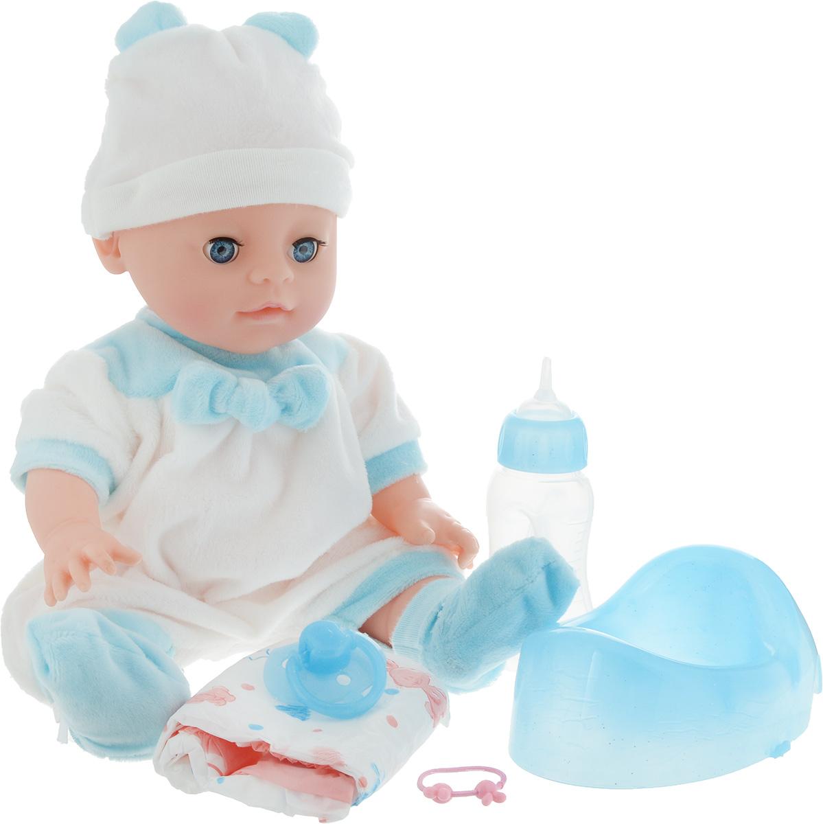 Lisa Jane Пупс с горшком цвет одежды белый голубой 35 см 59466 lisa jane пупс с ванной 35 см 59476